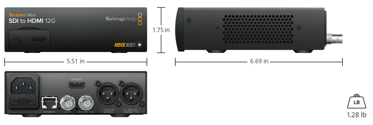 blackmagic design teranex mini sdi to hdmi 12G