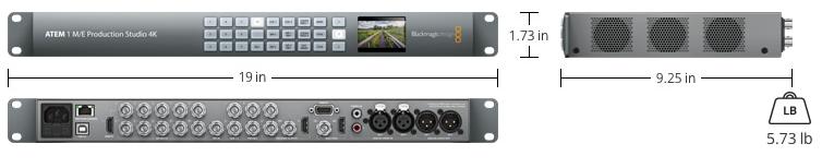 Switcher Atem 1 M E Production Studio 4k