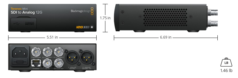 Teranex mini sdi a analog 12G blackmagic design