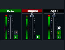 vMix software built in audio mixer